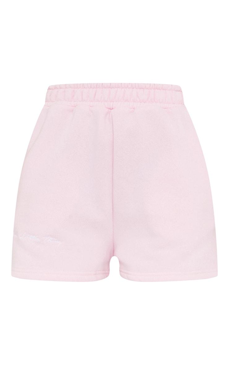 PRETTYLITTLETHING Petite Pink Sweat Shorts 6