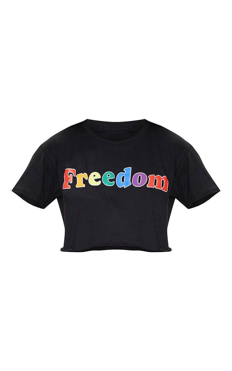 Black FREEDOM Crop Tee 4