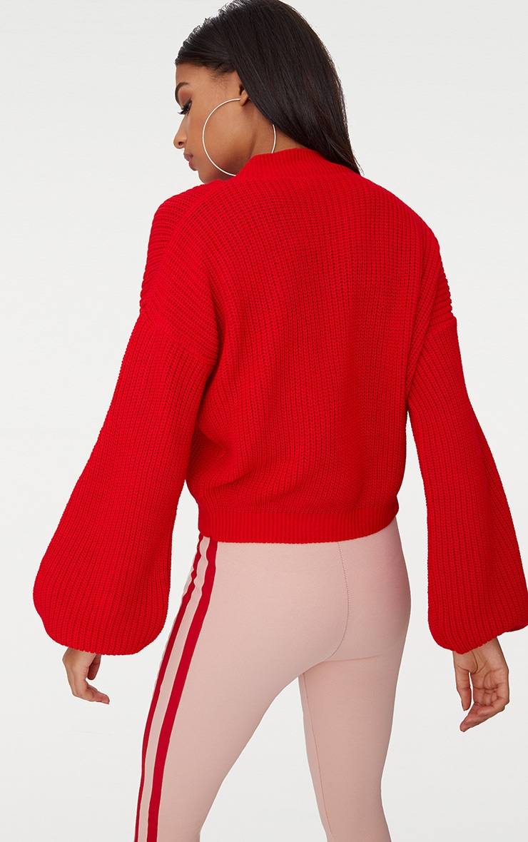 Red Balloon Sleeve Jumper 2