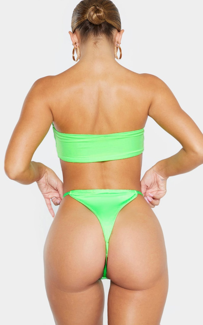 Lime Mix & Match String Thong Bikini Bottom 1