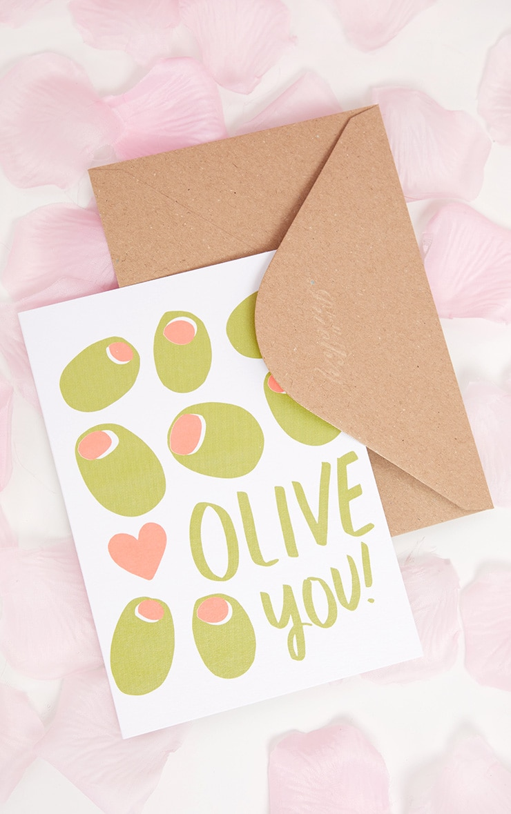 Ohh DEER Olive You Valentines Card  2