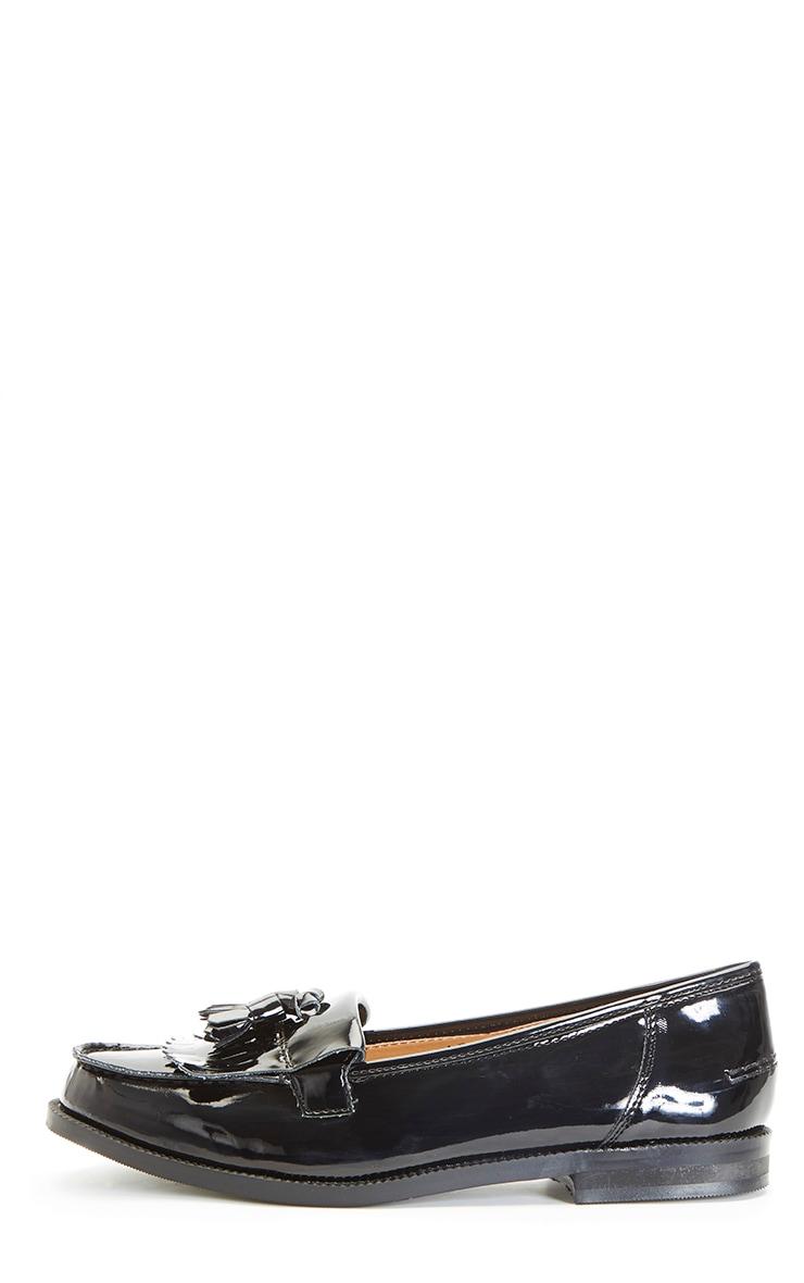 Rita Black Patent Loafer 1