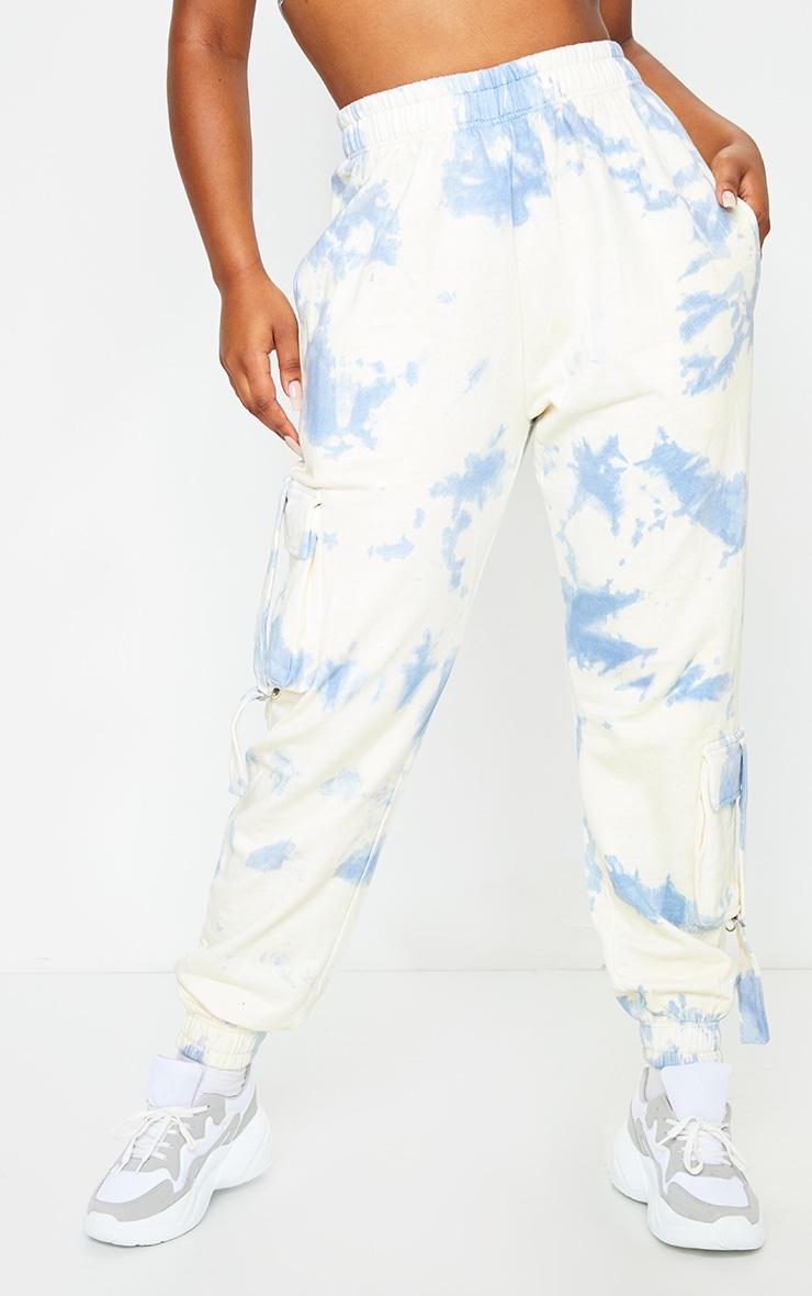Blue Tie Dye Pocket Detail Joggers 2