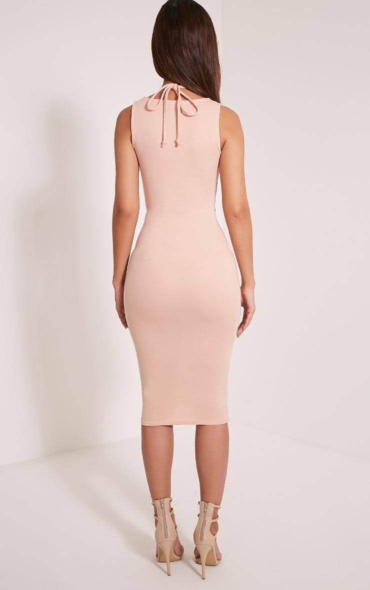 Raynie Nude Sleeveless Harness Midi Dress 2