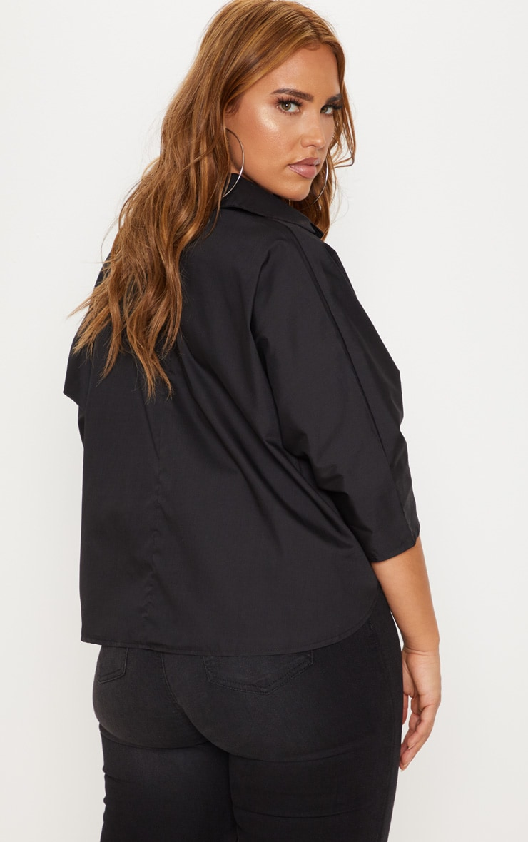 Plus Black Oversized Shirt 2