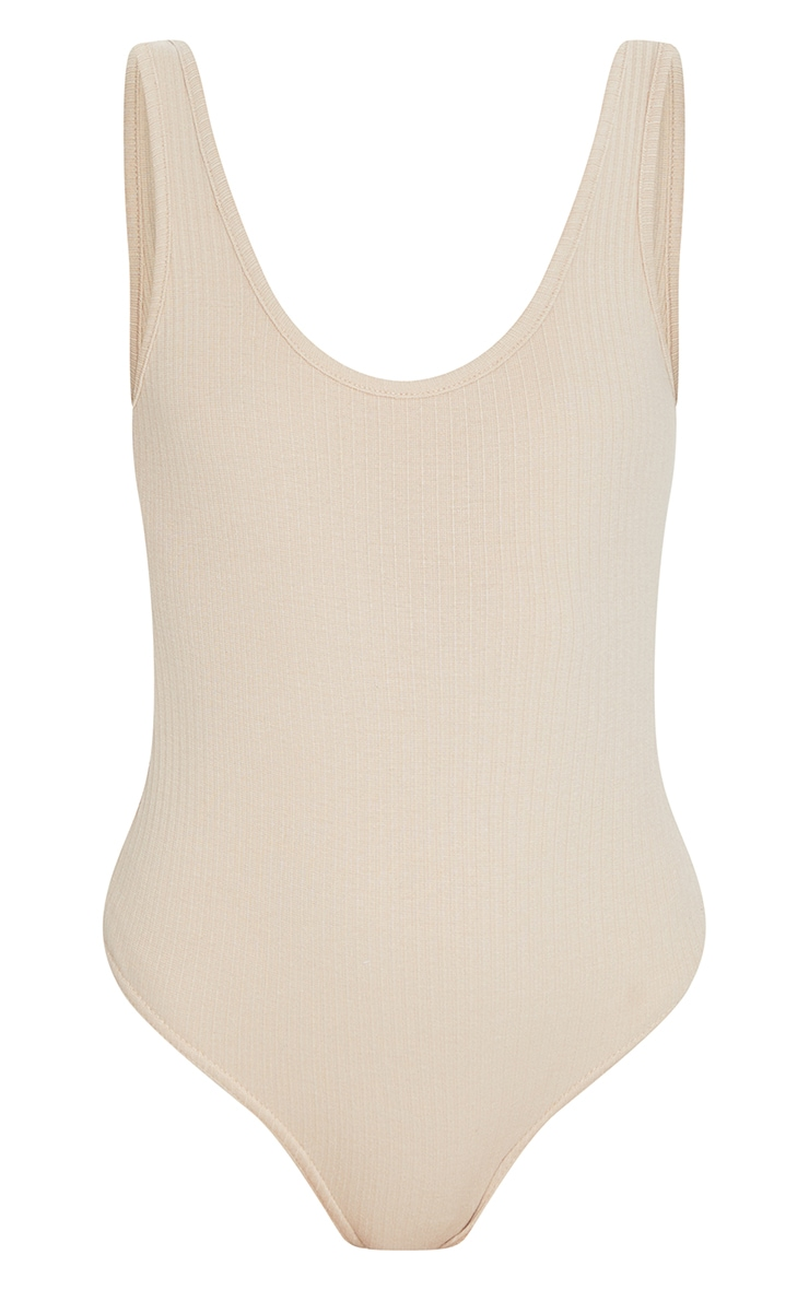 Nude Rib Scoop Neck Bodysuit 5