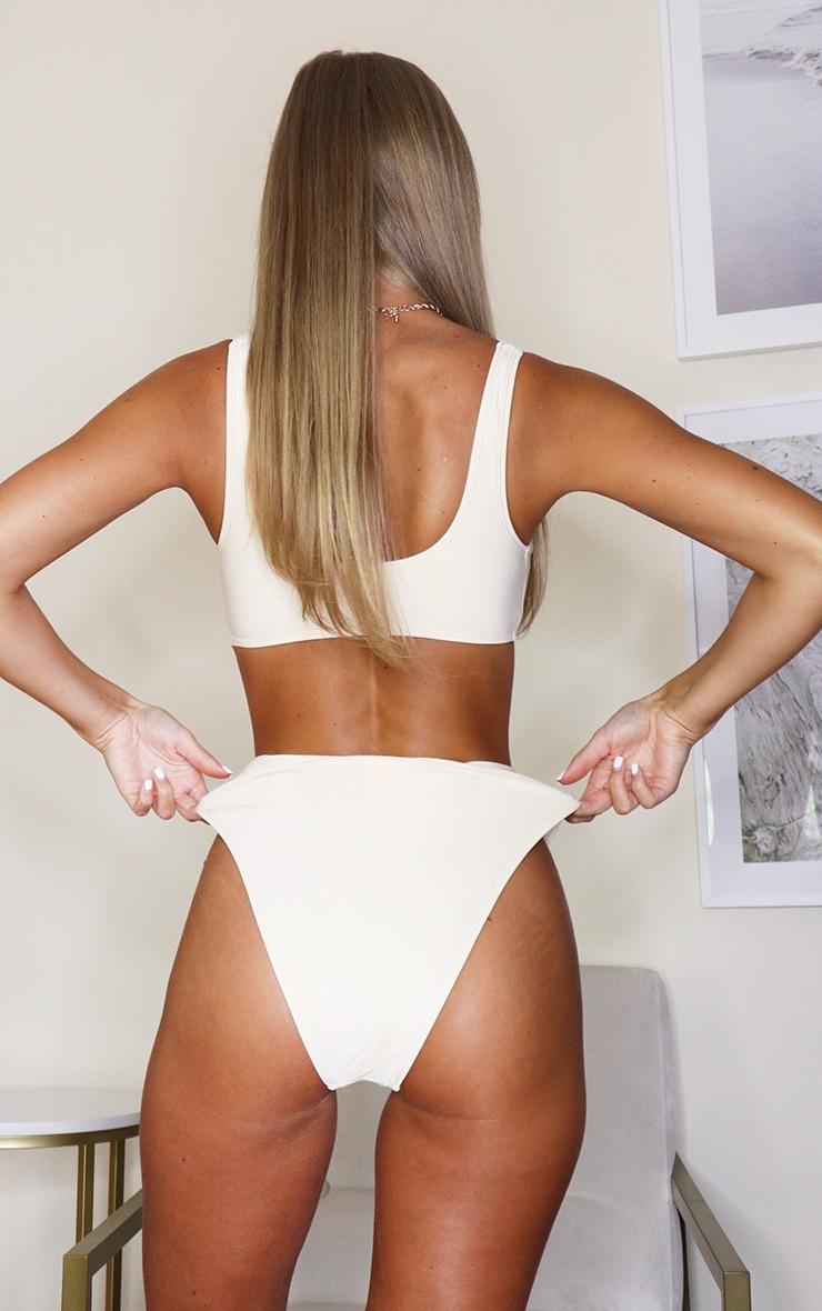 Cream Mix & Match High Waisted High Leg Bikini Bottoms 3