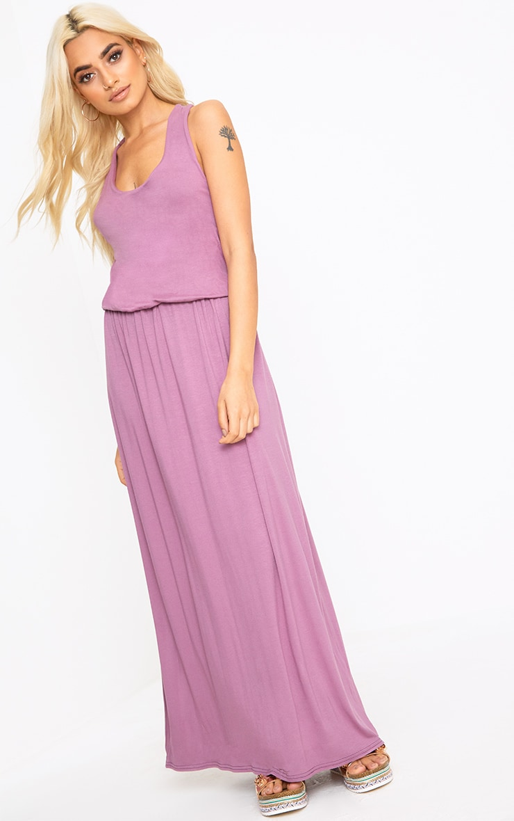 Mauve Bagged Over Maxi Dress 1