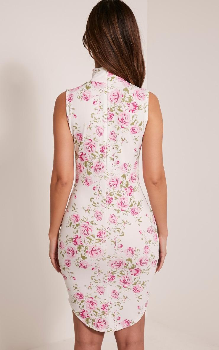 Arianna Rose Print Choker Detail Sleeveless Bodycon Dress 2
