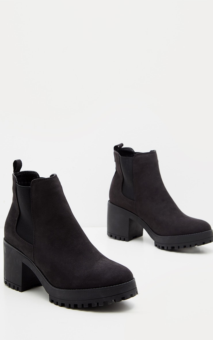 Black Chunky Chelsea Boot 3