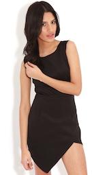 4ffcc4a3d1f56 Celine Black Wrap Over Dress | Dresses | PrettyLittleThing