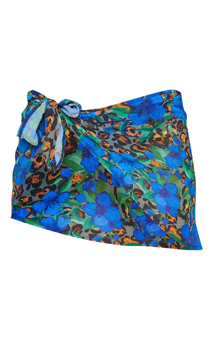 Blue Printed Sarong 6