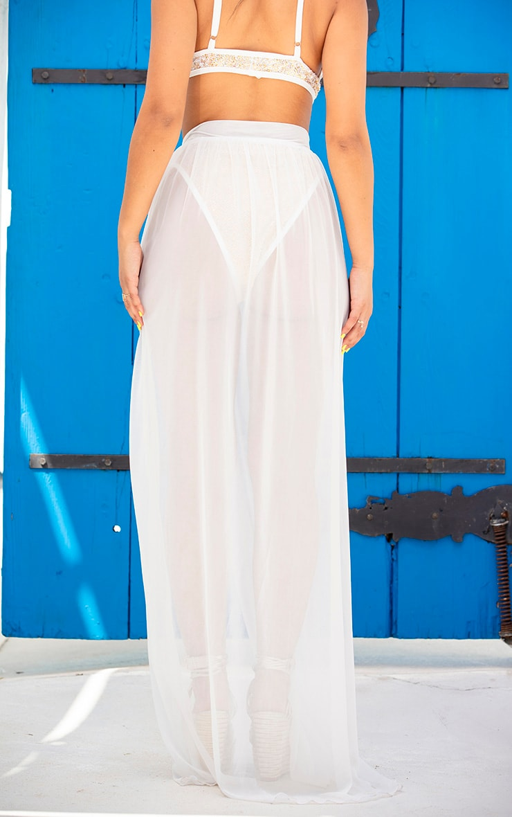 White Tie Side Maxi Beach Sarong 4