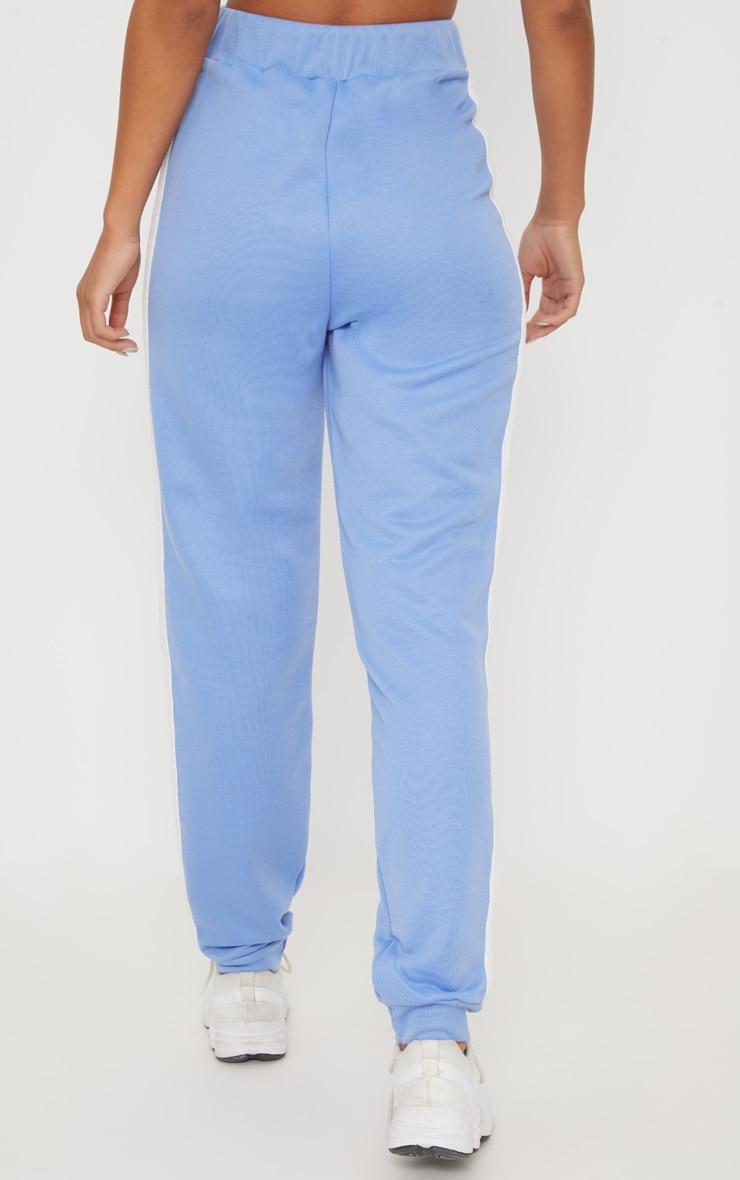 Baby Blue Contrast Stripe Track Pants 5