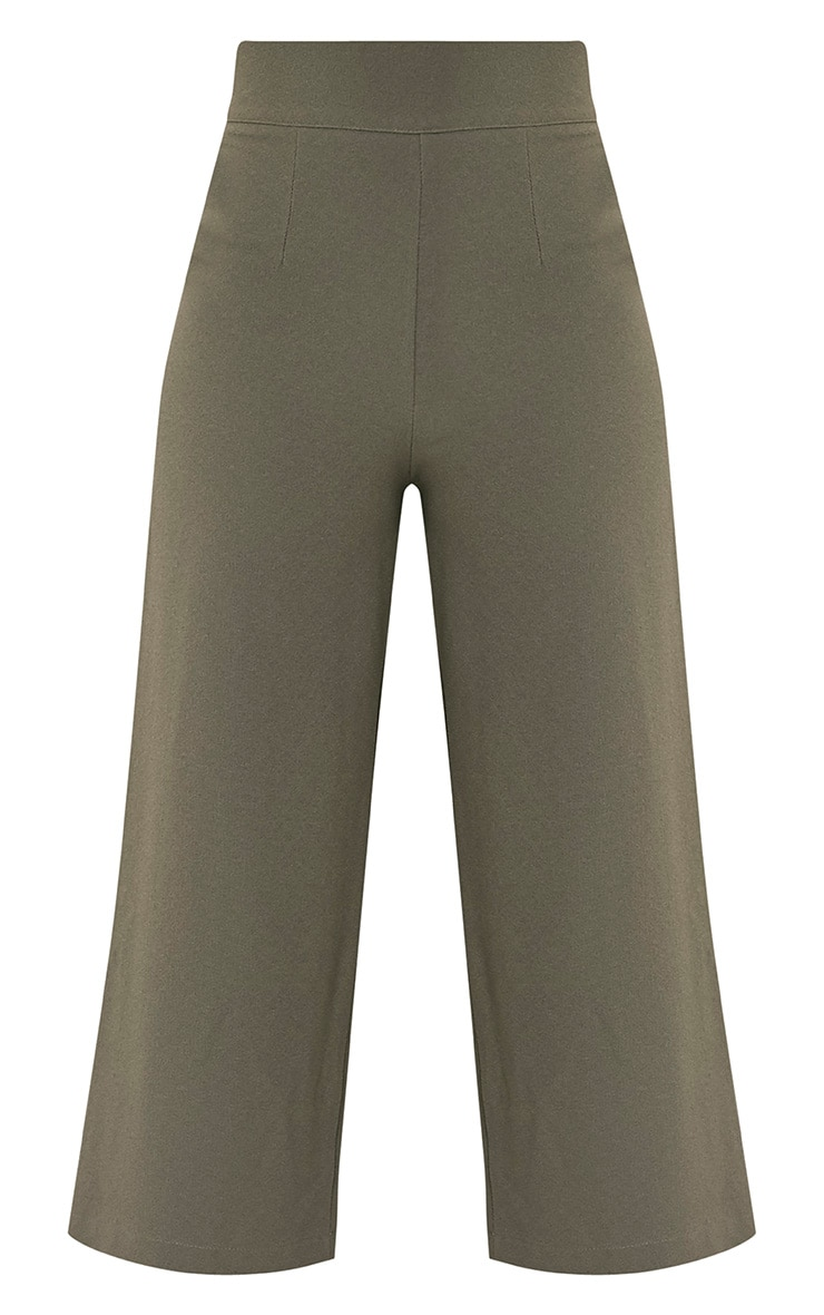 Tazmin Khaki High Waisted Culottes 3