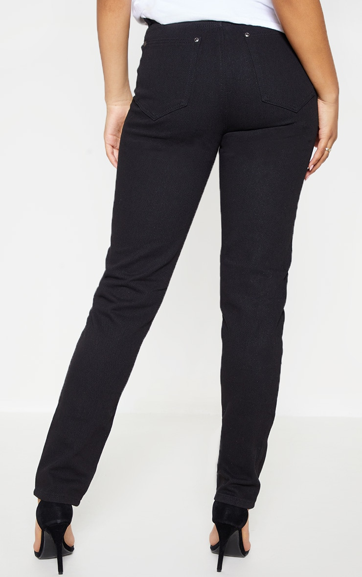 Tall Black Extreme Distressed Mom Jeans 4