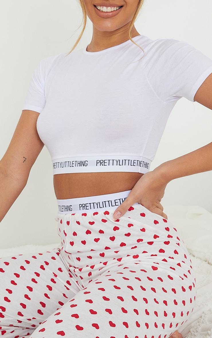 PRETTYLITTLETHING Heart Print Trouser PJ Set 4