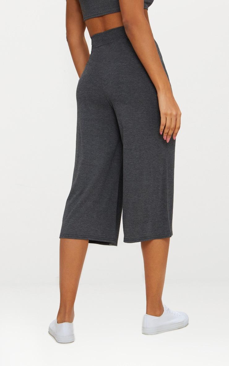 Charcoal Basic Culotte  3