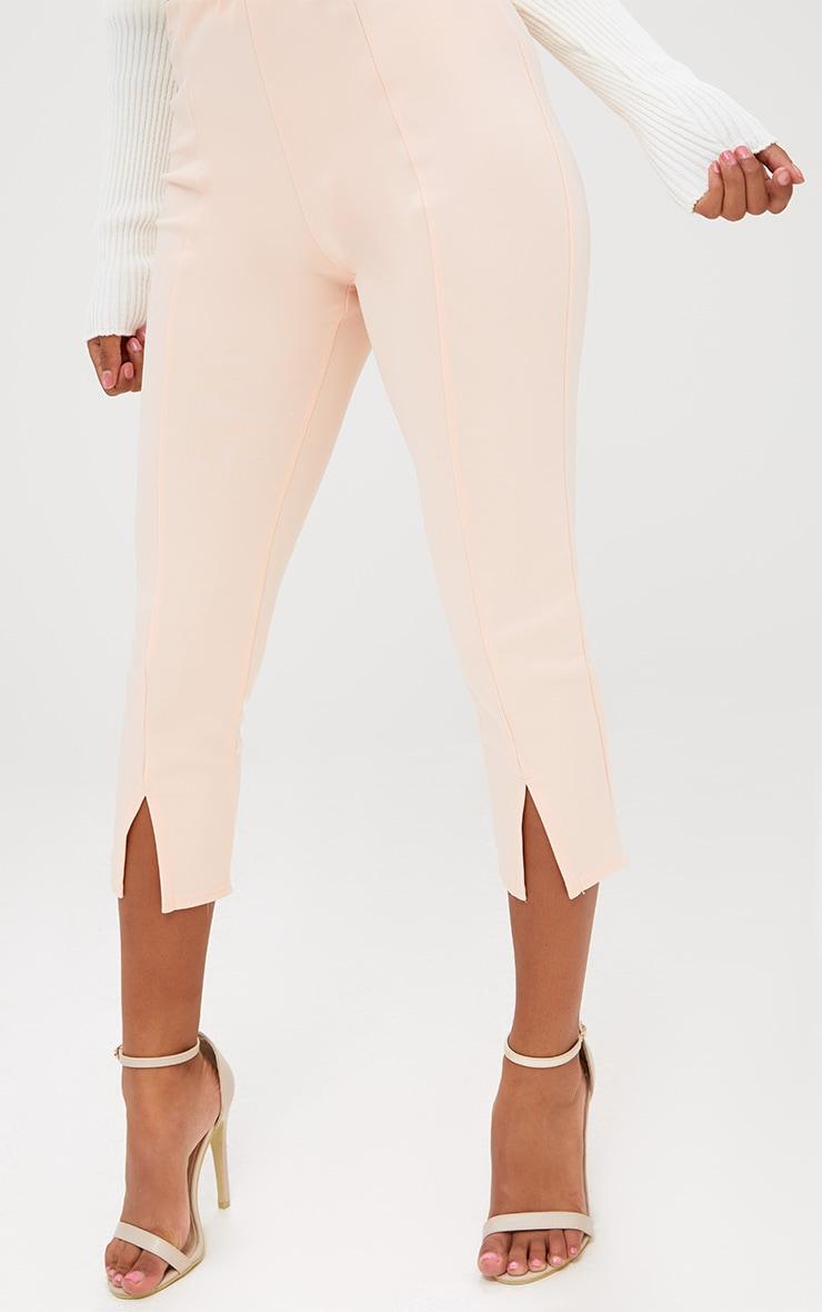 Petite Nude Split Hem Trousers 5