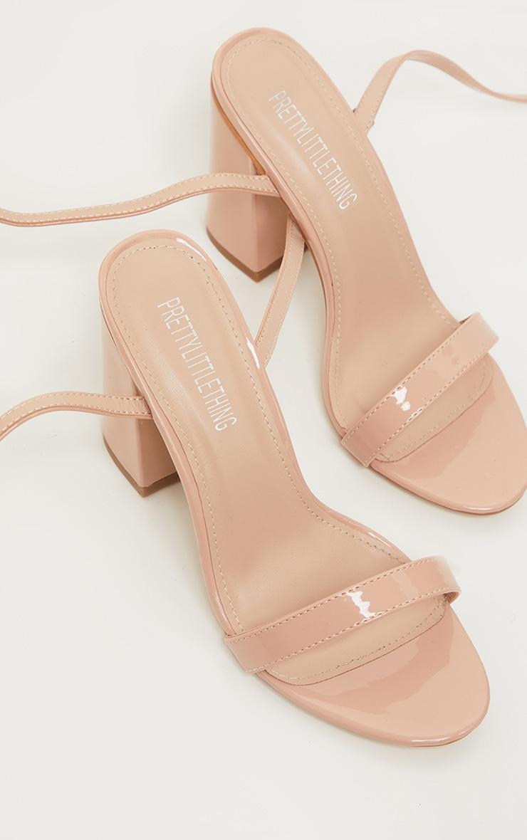Nude Ankle Strap Block Heel 3