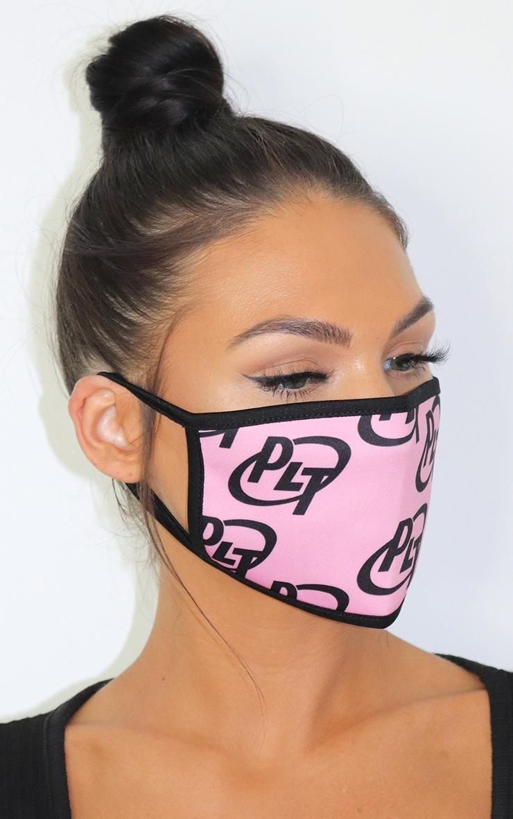 PLT Logo Baby Pink Fashion Mask 1