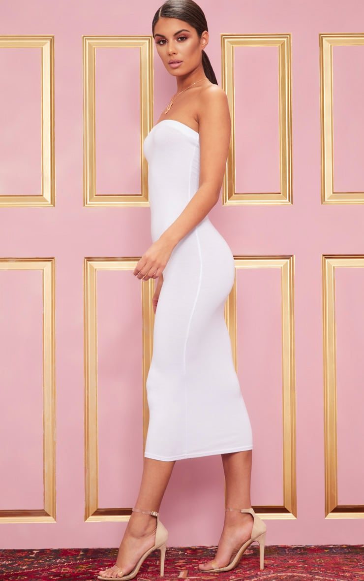White Bandeau Maxi Dress 4