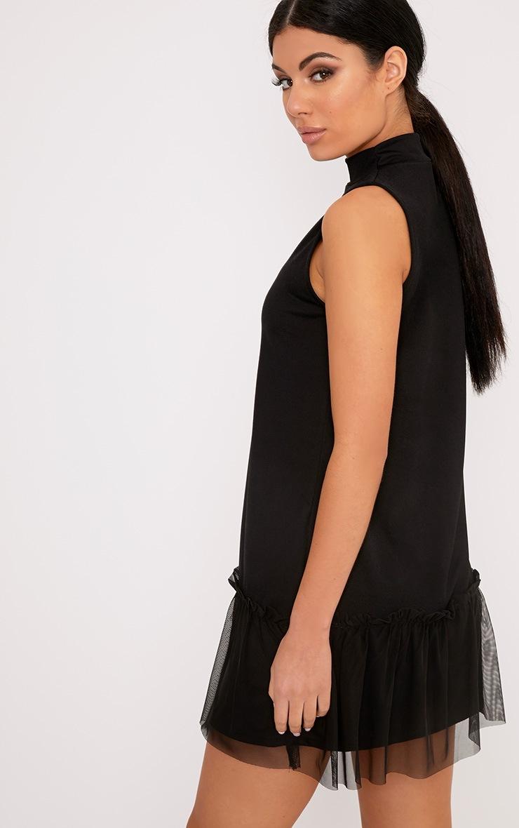 Brogan Black Mesh Detail Shift Dress 2
