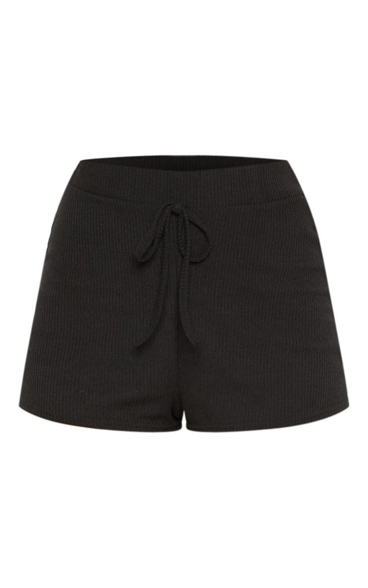 Black Rib Shorts 3