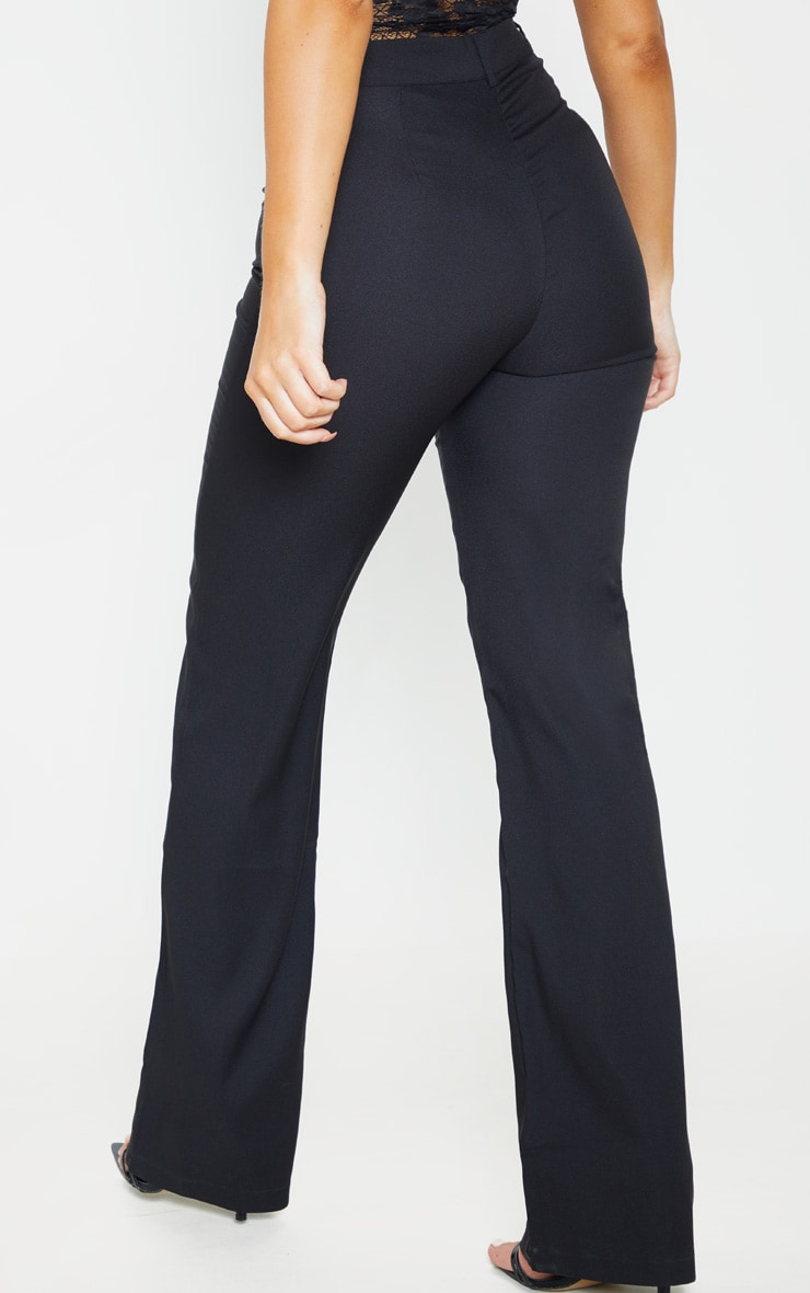 Anala Black High Waisted Straight Leg Trousers 4