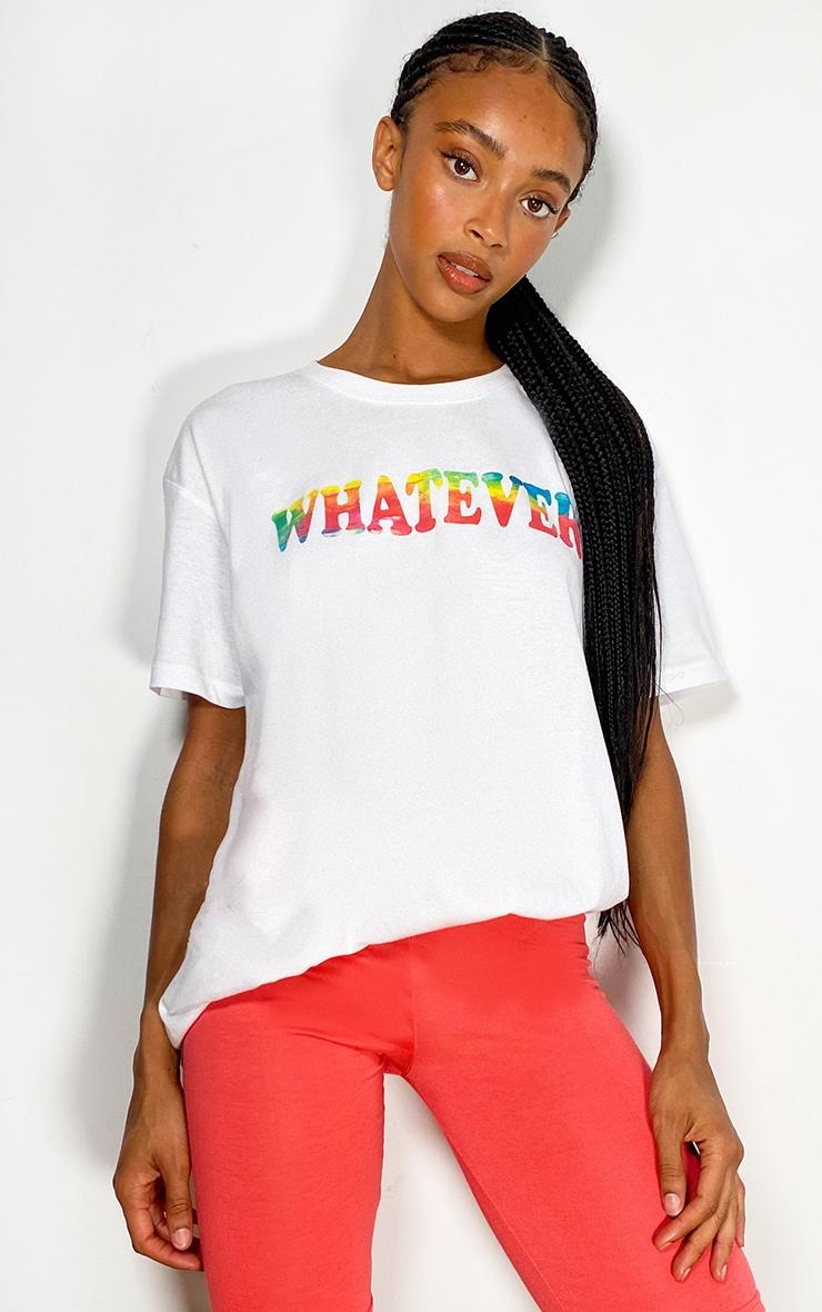 White Printed T Shirt 1