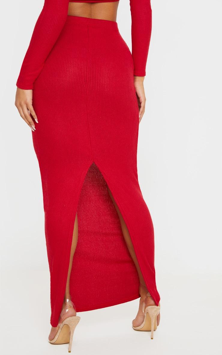 Scarlet Brushed Rib Midaxi Skirt 4