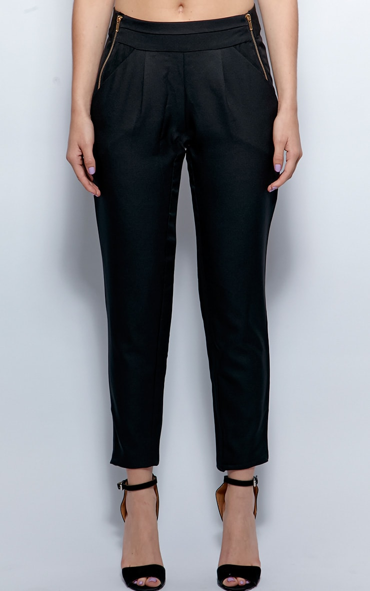 Breanna Black Tailored Linen Trousers 4