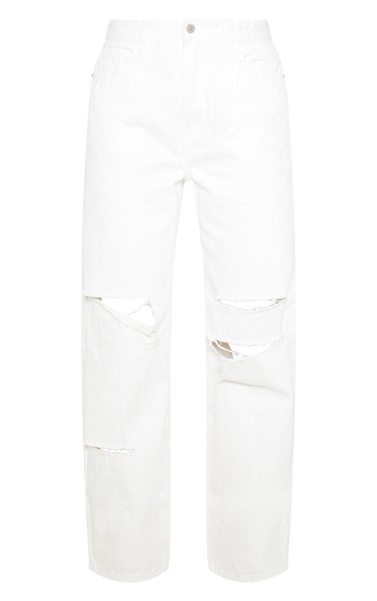 Jean baggy blanc style boyfriend  3