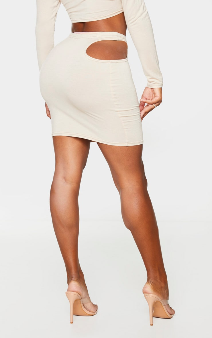 Shape Stone Jersey Cut Out Detail Bodycon Skirt 3