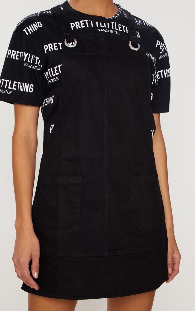 Black  Wash Pinafore Dress  5
