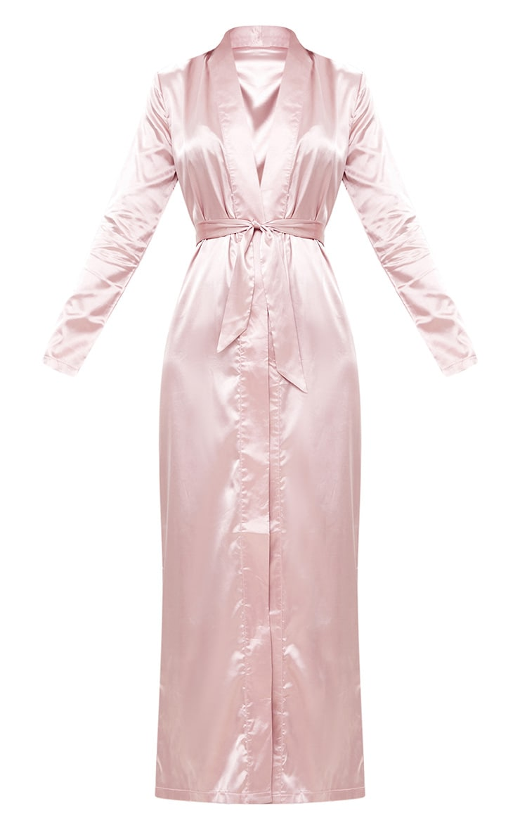 Pink Satin Duster 3