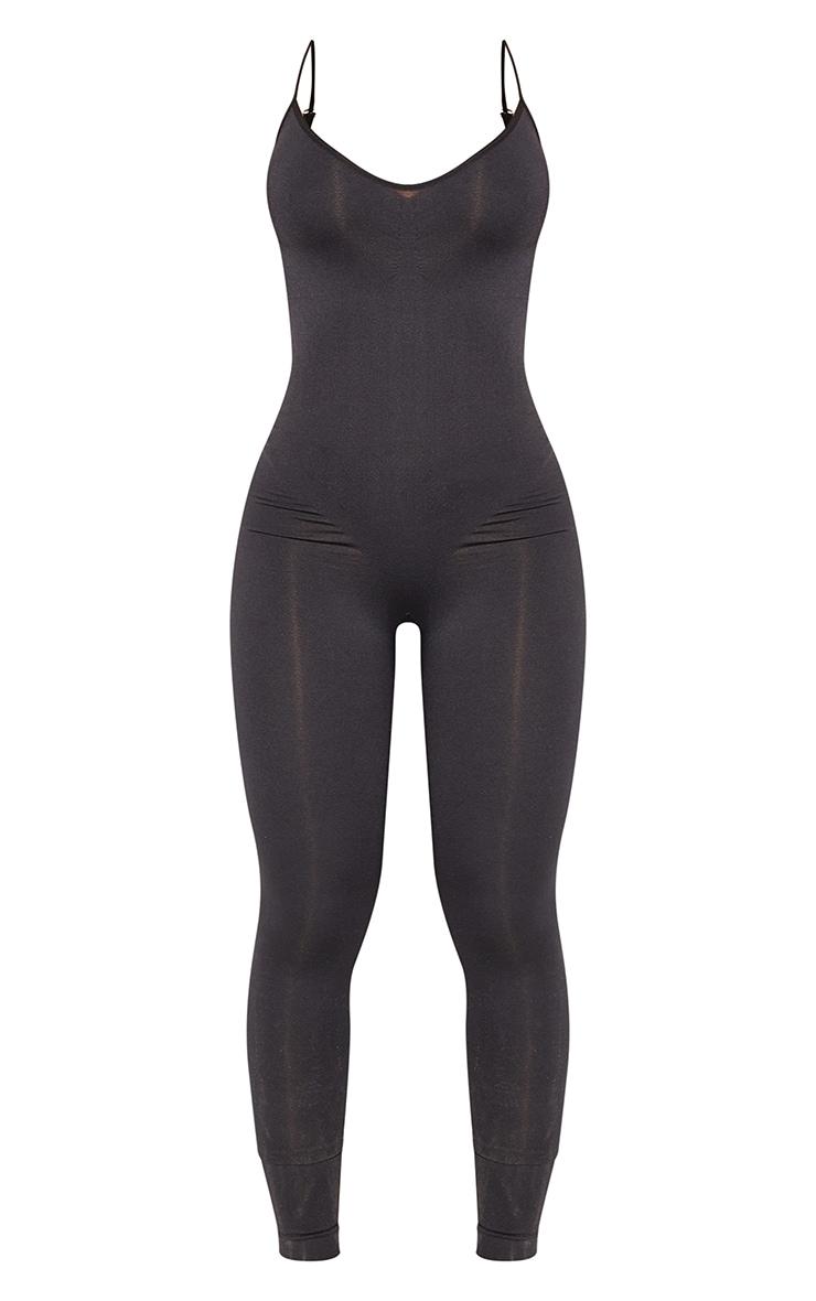 Black Shapewear Control Longline Body 5
