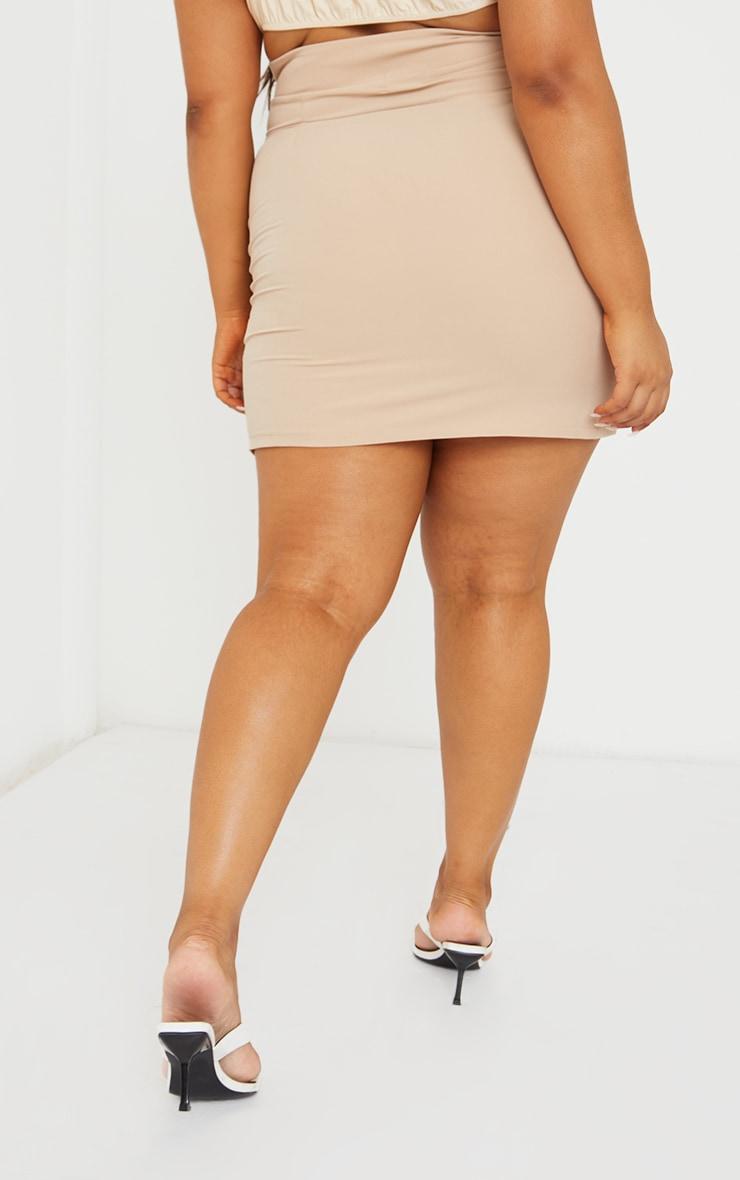 Plus Cream Asymmetric Woven Skirt 3