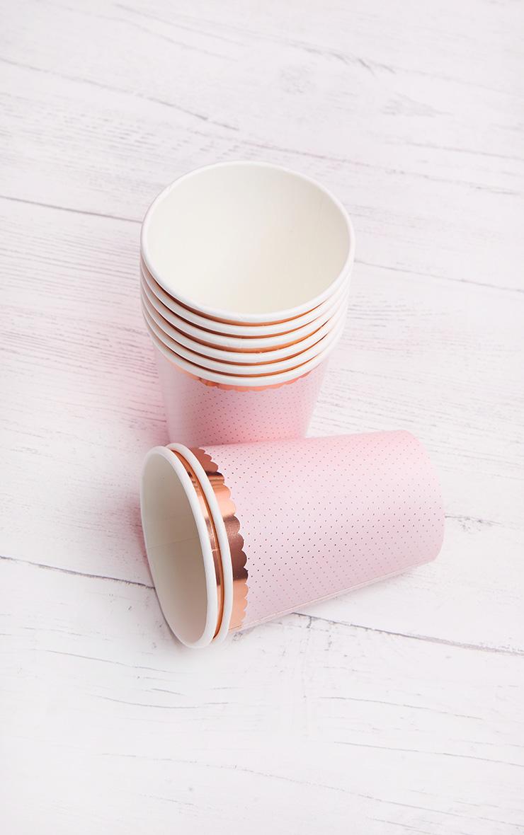 Ginger Ray Cup Polka Dot Rose Gold 2