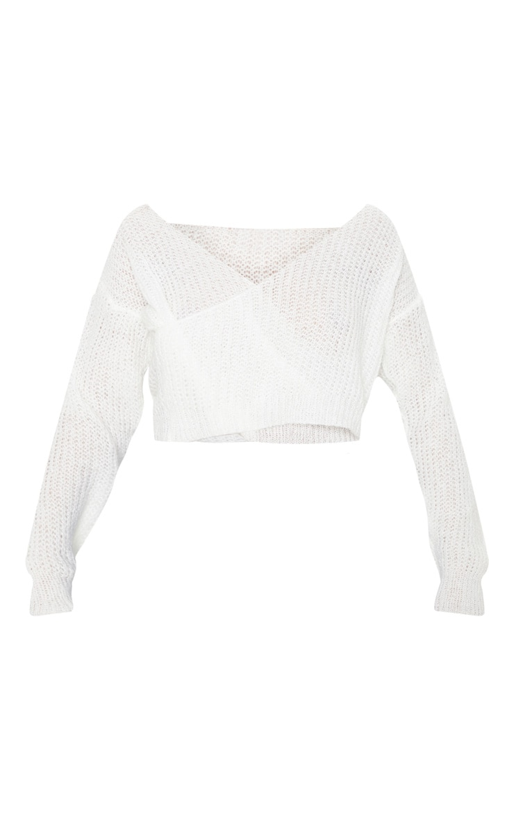 Cream Laguna Wrap Front Knitted Top 3