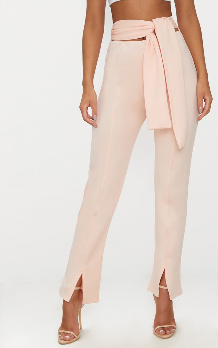 Nude Scuba Cut Out Waist Band Tie Skinny Trouser 2