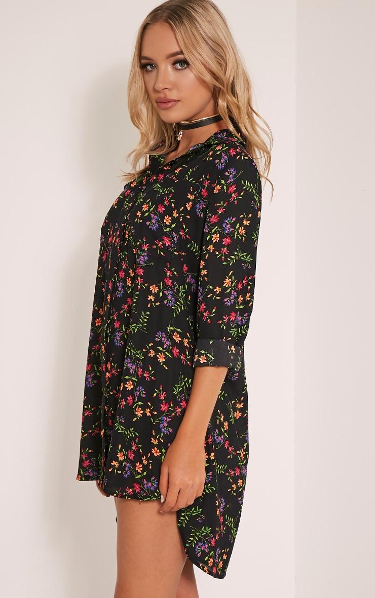 Tricia robe chemise vive imprimé à fleurs motif cachemire 4