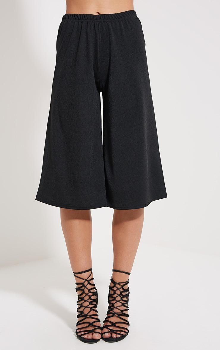 Aalia Black Crepe Culottes 2