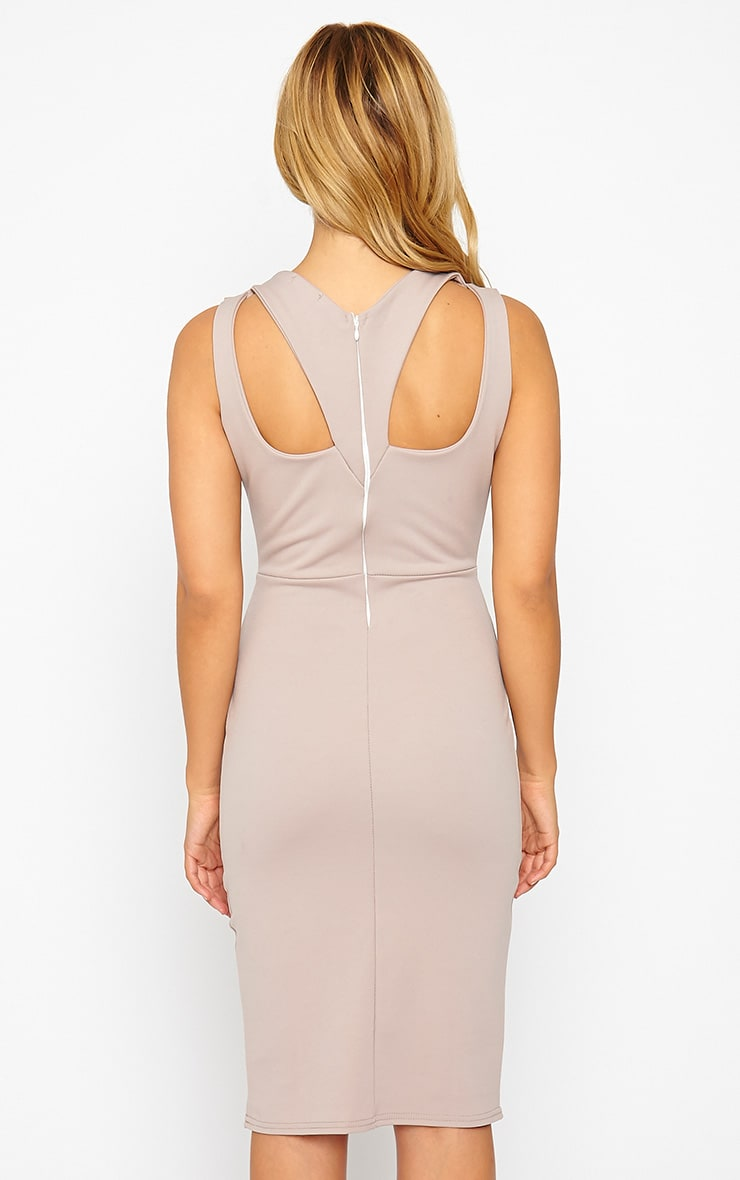 Gracen Mauve Cross Front & Back Midi Dress 2