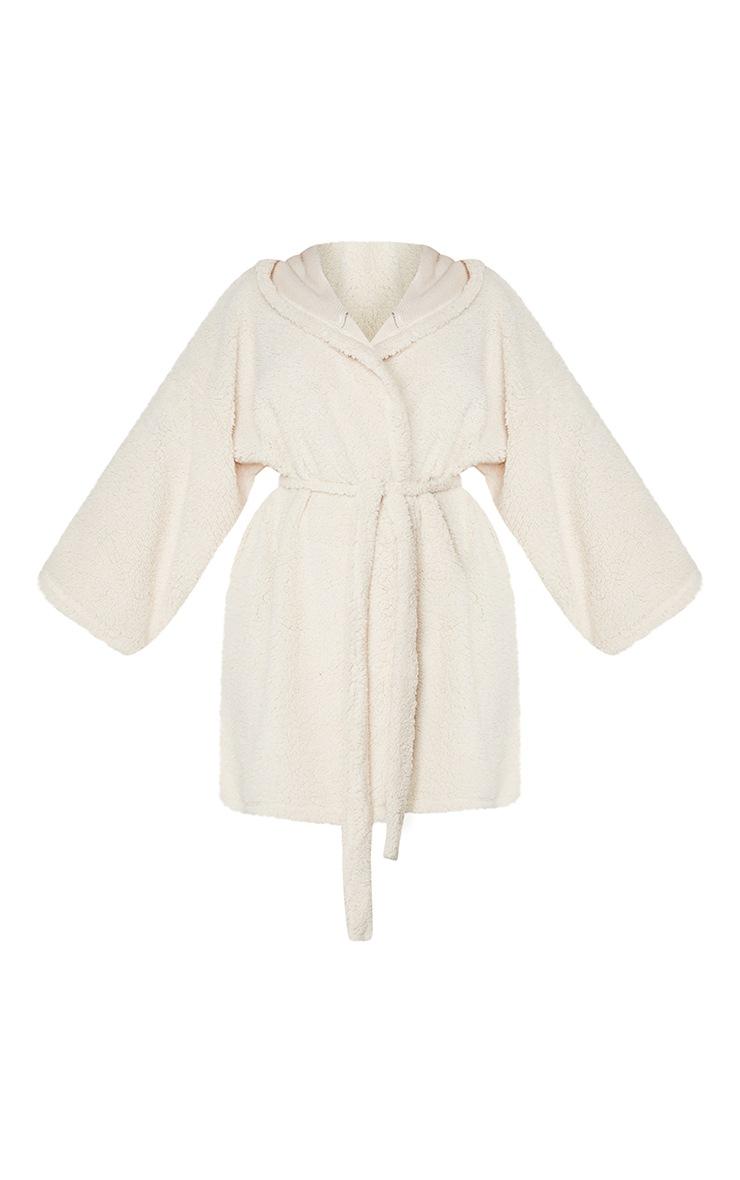 Plus Cream Borg Dressing Gown 5