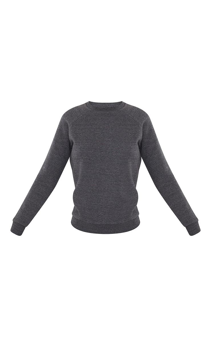 Recycled Basic Charcoal Slim Sweatshirt 5