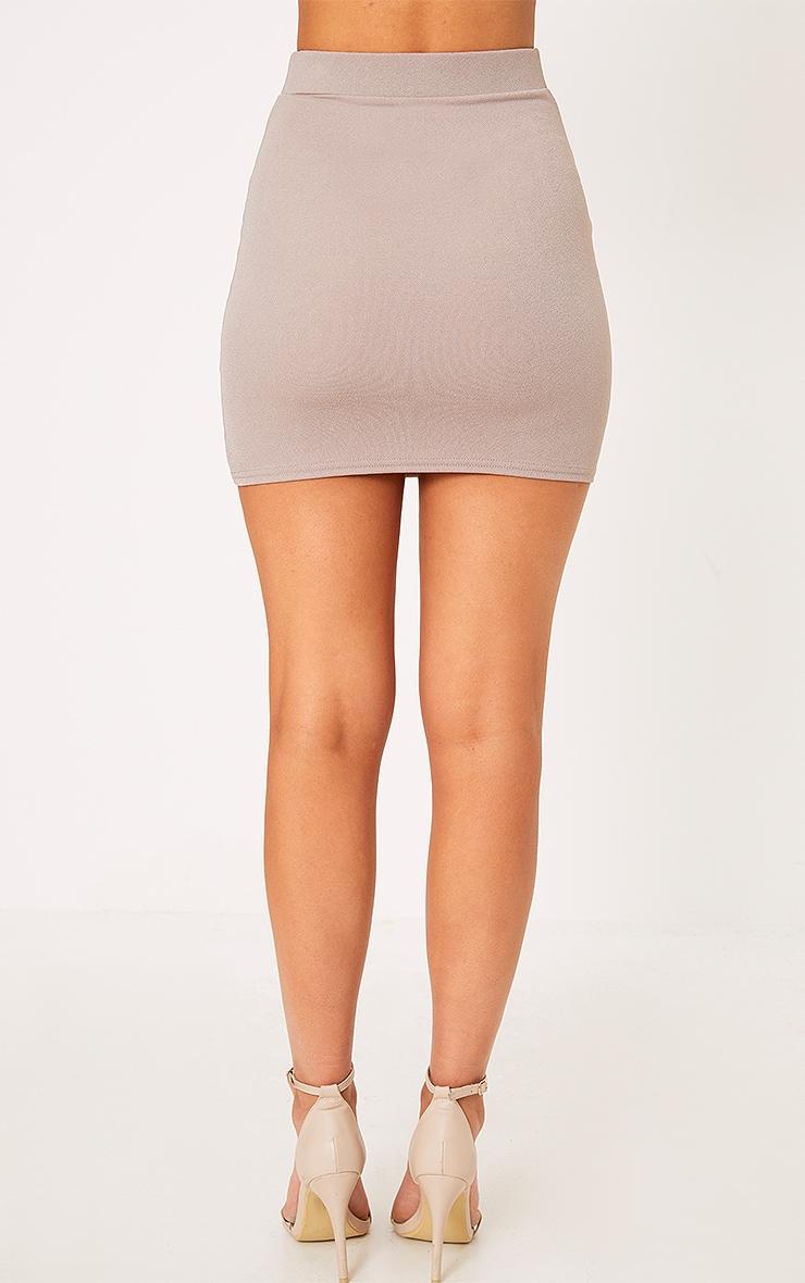 Catarina Grey Corset Panel Mini Skirt 5