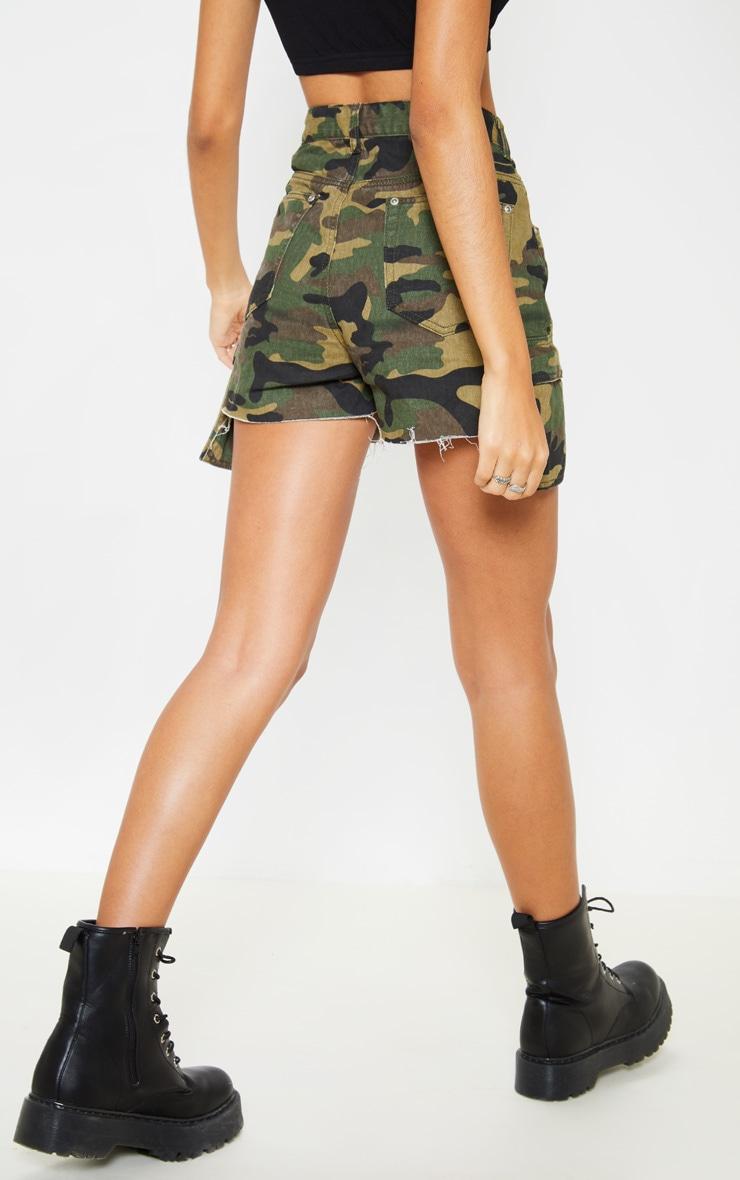Camo Cargo Pocket Denim Shorts  4