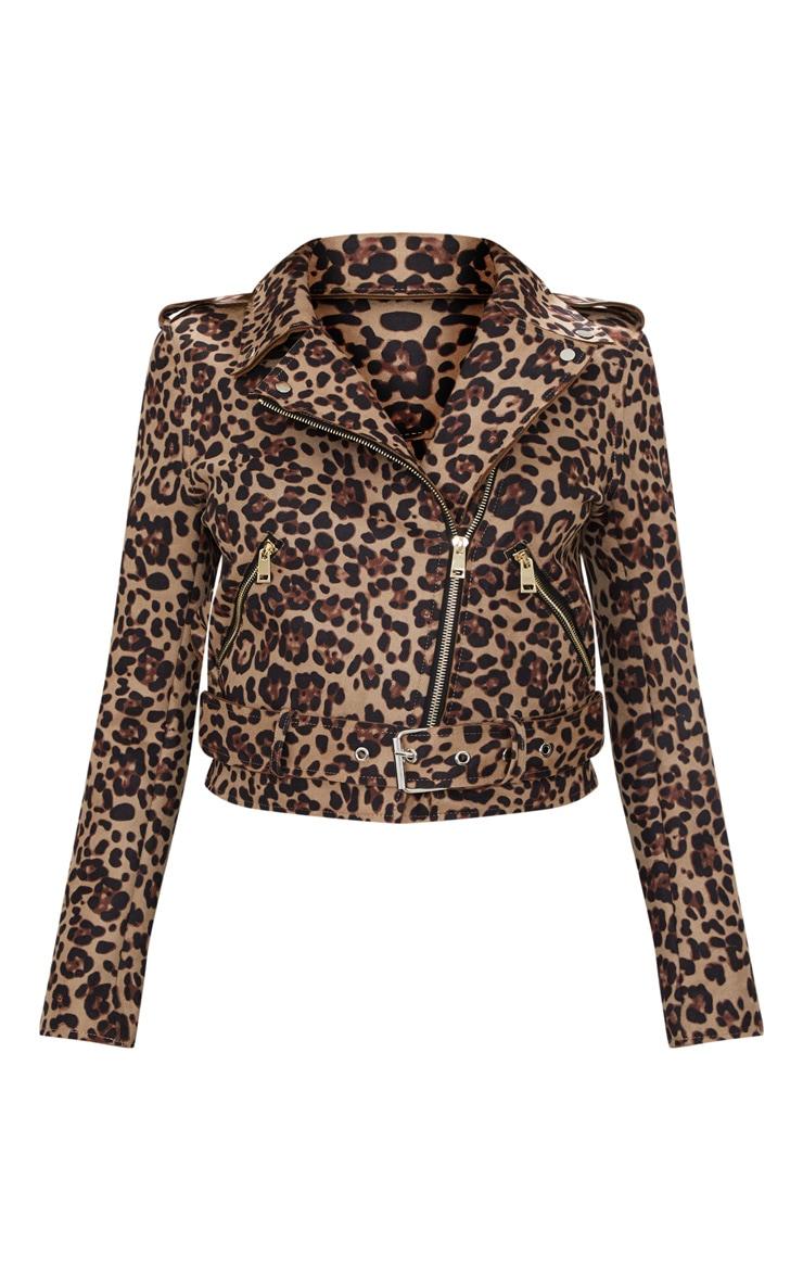 Leopard Print Biker Jacket 3