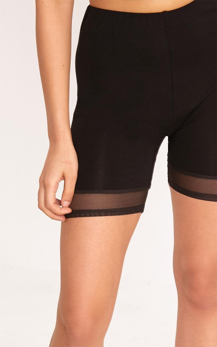 Cicley Black Mesh Hem Cycle Shorts 6